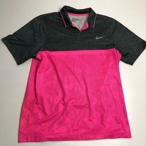 Nike Dri Fit Tour Performance Golf Shirt Large Mens